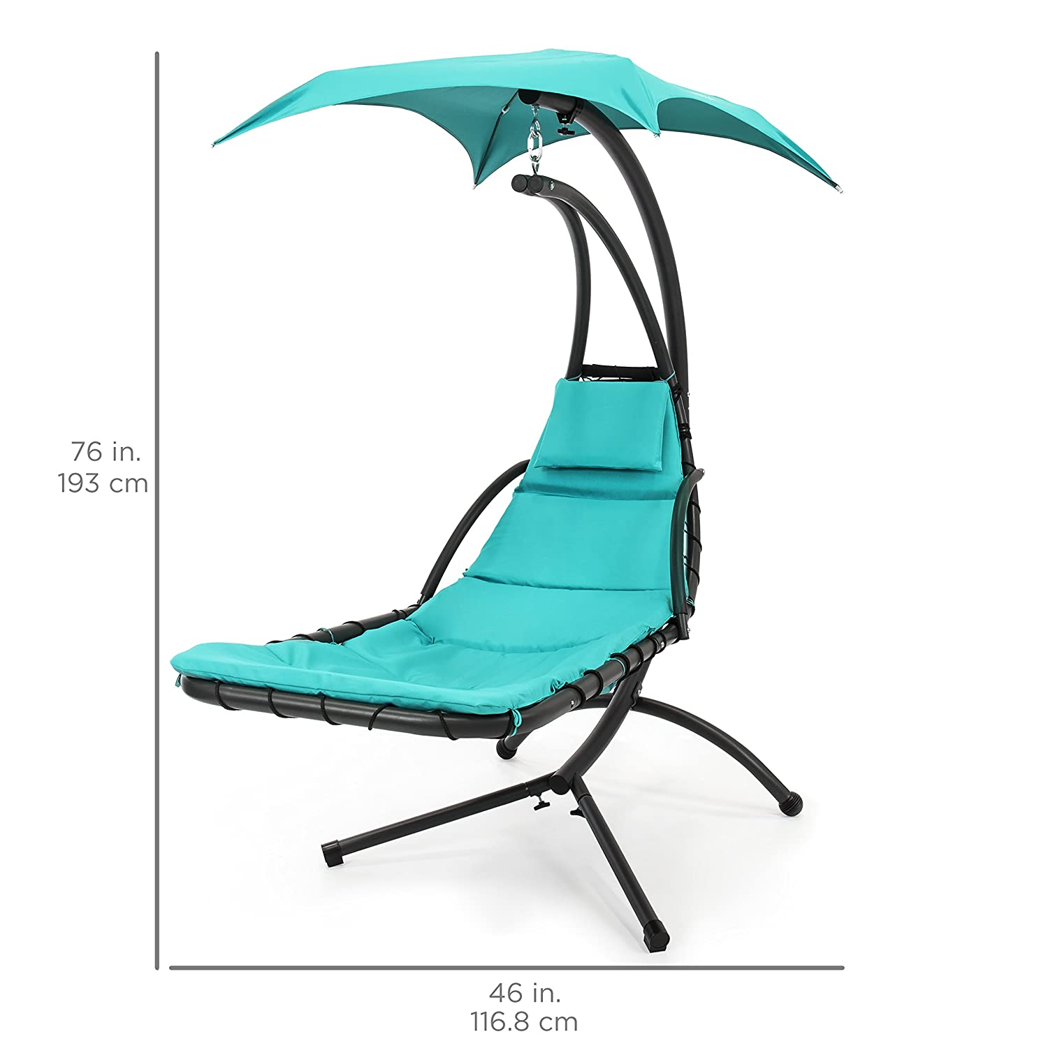 amazon com best choice products hanging chaise lounger chair arc