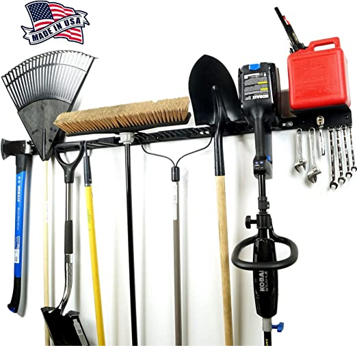 Garden Tools Storage Rack Wall Mounted Garage Yard Hanger Organizer Hanging Bar