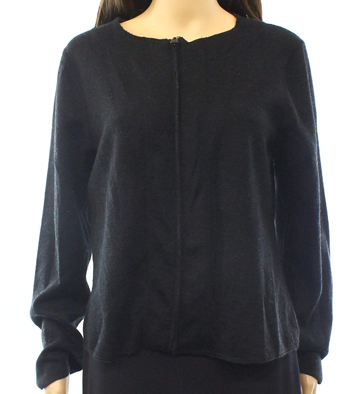 Revue Gray Women's Medium Full Zip Wool Sweater