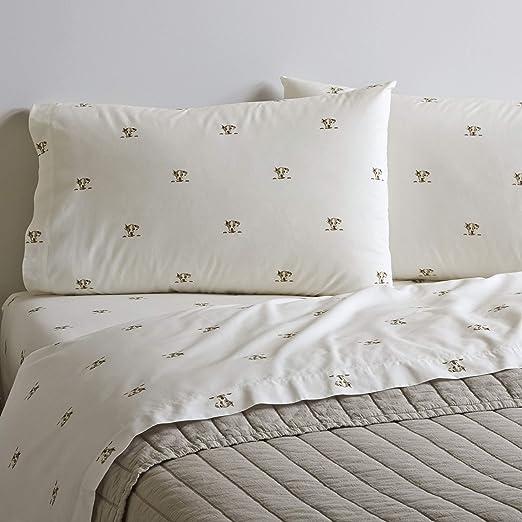 Amazon Com Ed Ellen Degeneres Percale Collection Bed Sheet Set 100 Cotton Oeko Tex Certified Crisp Cool Lightweight Moisture Wicking Bedding King Augie Home Kitchen