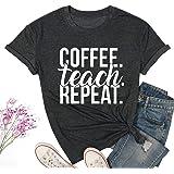 Teacher Shirt Women Funny Letter Print Graphic T-Shirt Casual Short Sleeve O-Neck Tee Top
