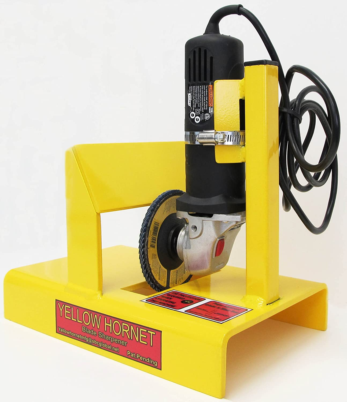 81gBFaHtpXL._SL1500_ amazon com yellow hornet lawn mower blade sharpener grinder  at creativeand.co