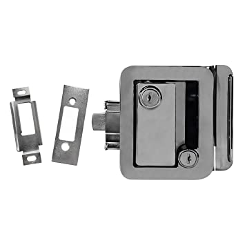 NEW RecPro CHROME RV CAMPER TRAILER MOTORHOME PADDLE ENTRY DOOR