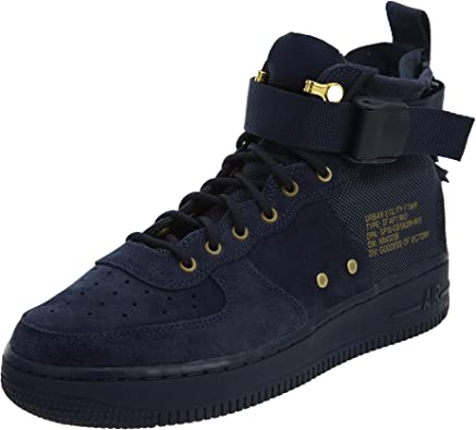 Amazon Com Nike Kids Sf Air Force 1 Mid Shoe Gs Obsidian