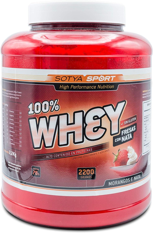Sotya Proteina Whey 100% Fresa y Nata 2.2 kg
