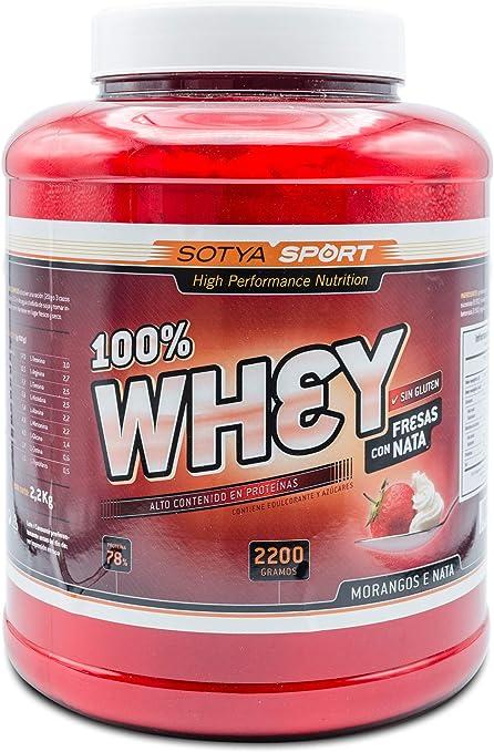 SOTYA - SOTYA Proteina Whey 100% Vainilla 2.2 kg: Amazon.es ...
