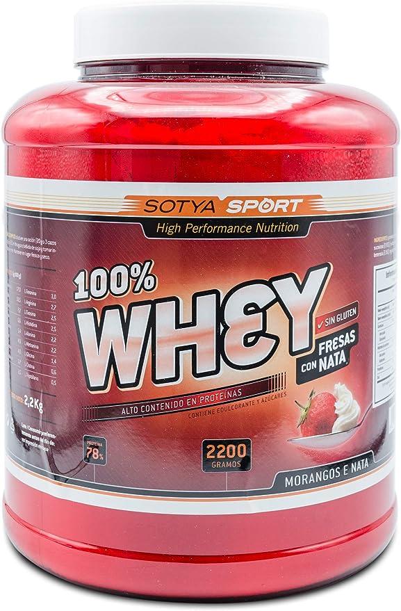SOTYA Proteina Whey 100% Vainilla 2.2 kg: Amazon.es