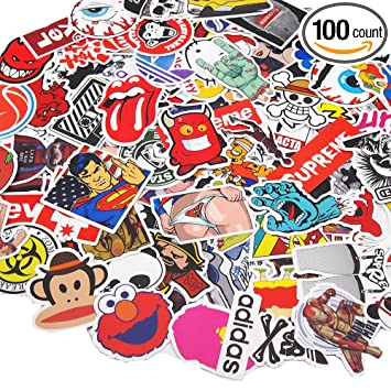 Vetroo car stickers motorcycle bicycle luggage laptop decal graffiti patches skateboard bumper stickers 100 pcs