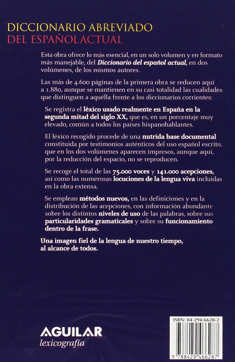 Diccionario abreviado del español actual DICCIONARIOS M. SECO: Amazon.es: Manuel Seco/Olimpia Andrés/Gabino Ramos: Libros