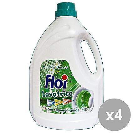 Juego de 4 flores lavadoras líquidas 25 medidas=3 l. Muschio ...