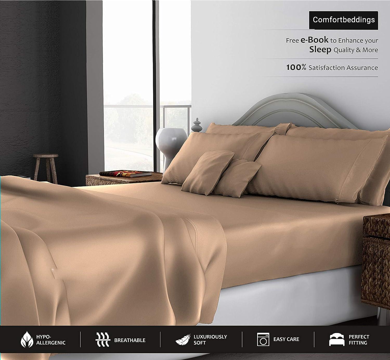 SGI bedding King Size Sheets Luxury Soft 100% Egyptian Cotton - Sheet Set for King Mattress Leopard Print 600 Thread Count Deep Pocket