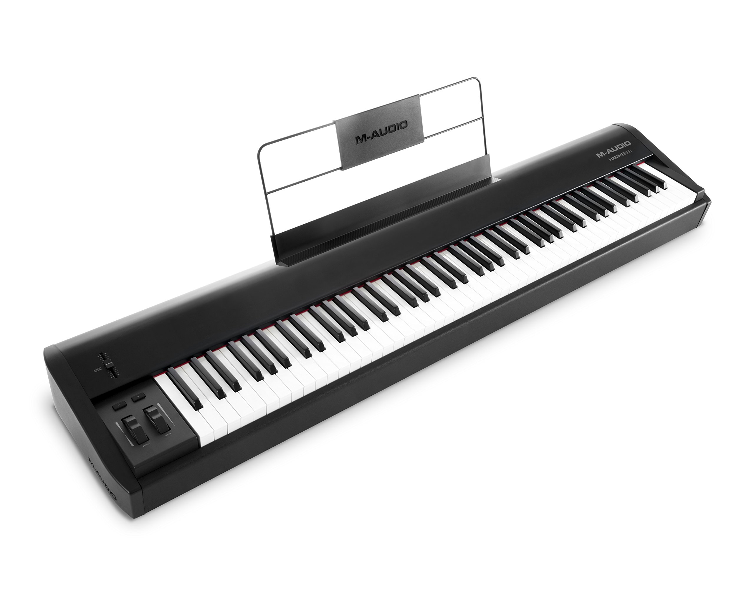 M-Audio Hammer 88 | Premium 88-Key Hammer-Action USB/MIDI Keyboard Controller Including A Studio Grade Software Suite by M-Audio