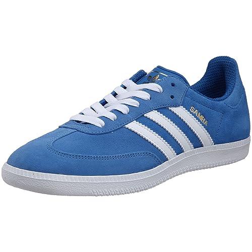 adidas Samba Zapatillas de deporte, Hombre, Azul (Bluebird/White), 47 1/3 EU: Amazon.es: Zapatos y complementos