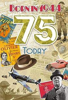 75th Birthday Card 1944 Year You Were Born Female Year Facts Inside Card
