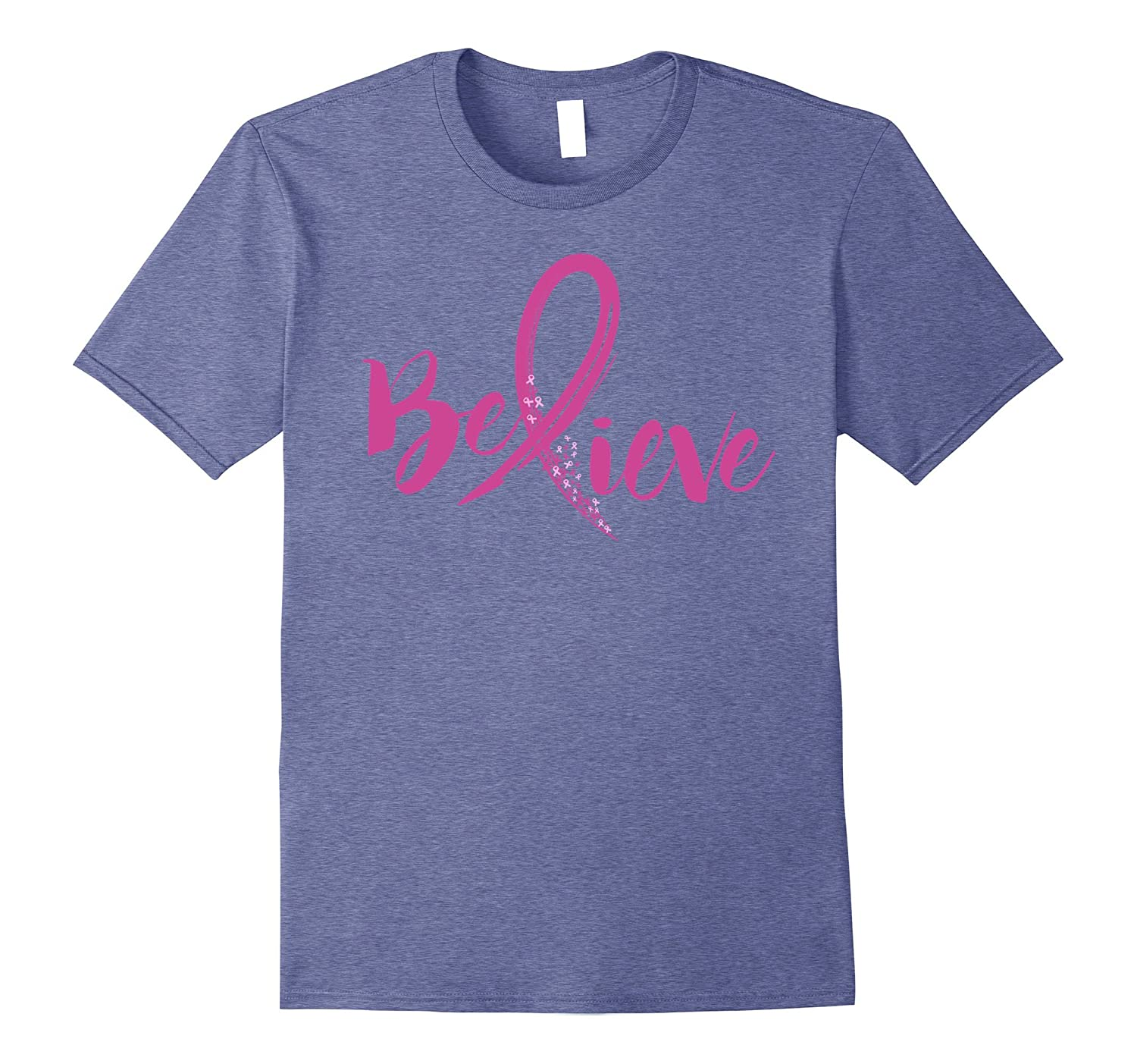 4f95d9e5e00 Believe - Women Breast Cancer Awareness Fight T-Shirt-FL ...