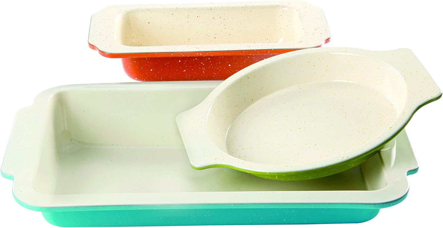 Gibson Home 3-Piece Imbue Bakeware Set, Carbon-Steel - CBS BAHAMAS LTD