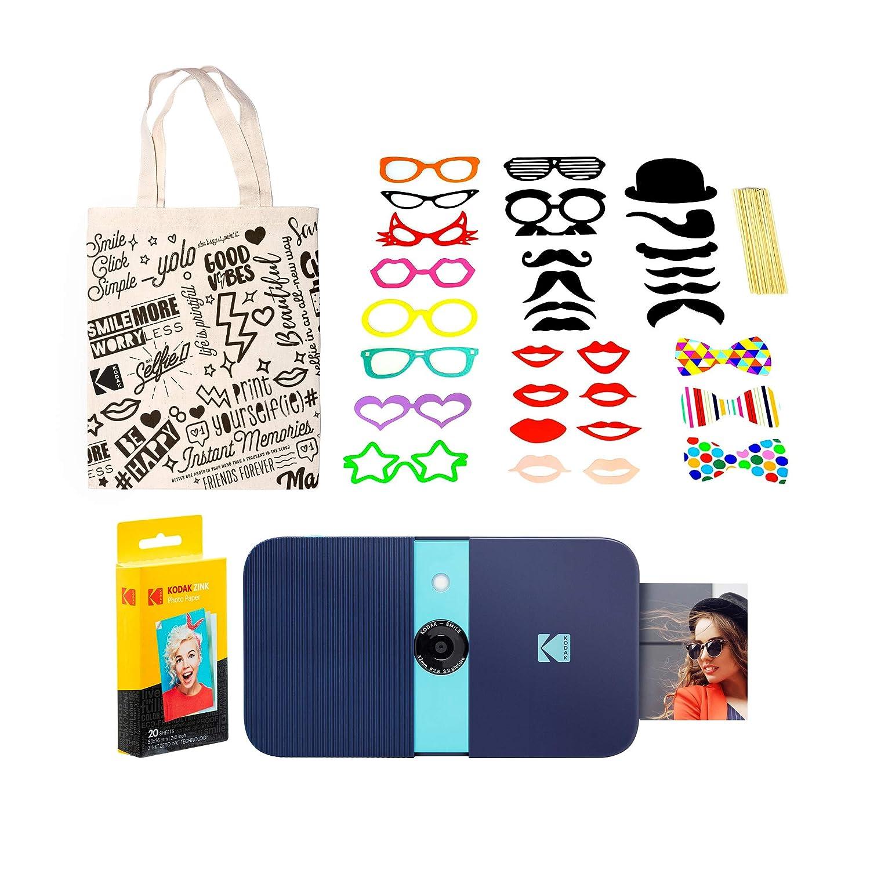 KODAK Smile Impresora Digital instantánea (Azul) Kit de Cabina de ...