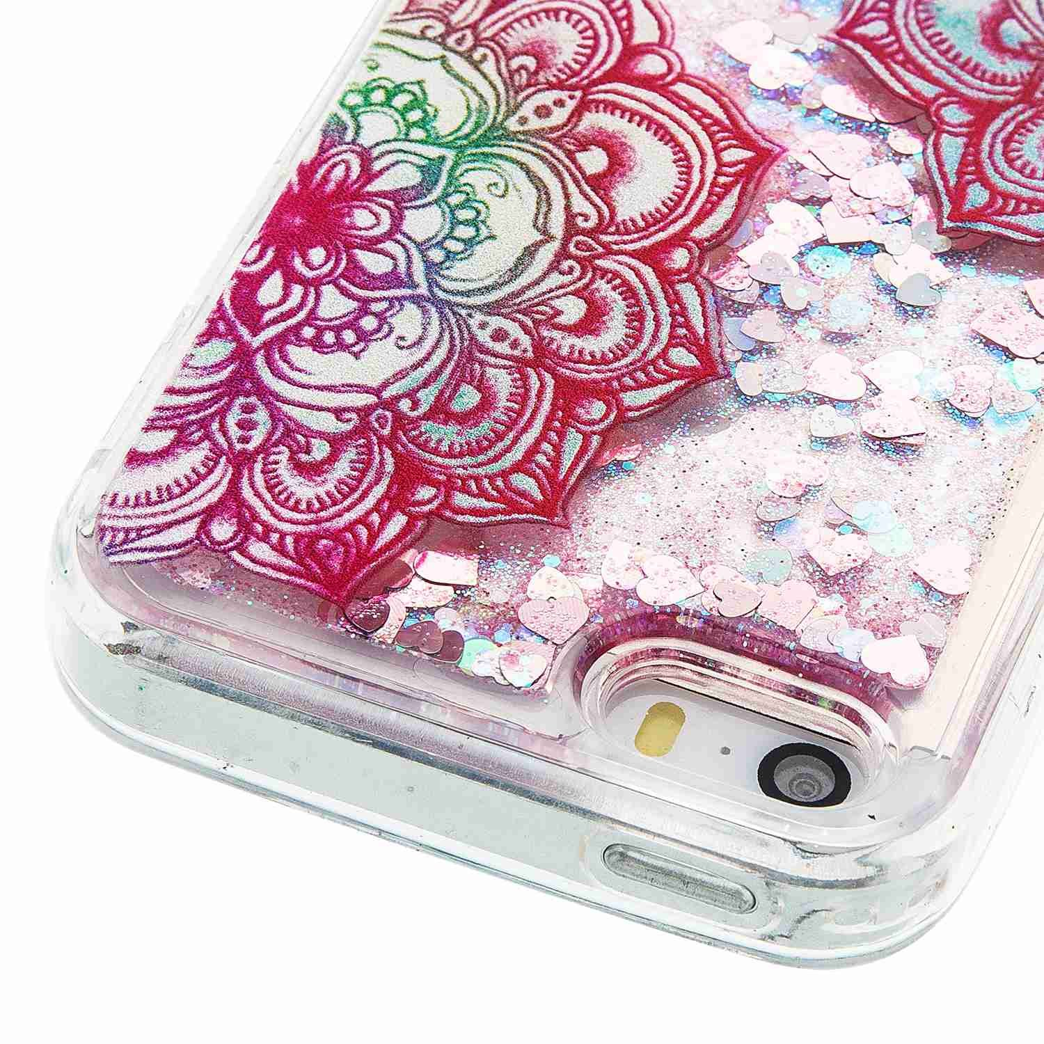 Iphone 5s Case Se Arsue Cool Moving Bling Casing 4 4s Softcase Motif Owl Glitter Sparkle Design Printed Liquid Quicksand Transparent Soft For 5