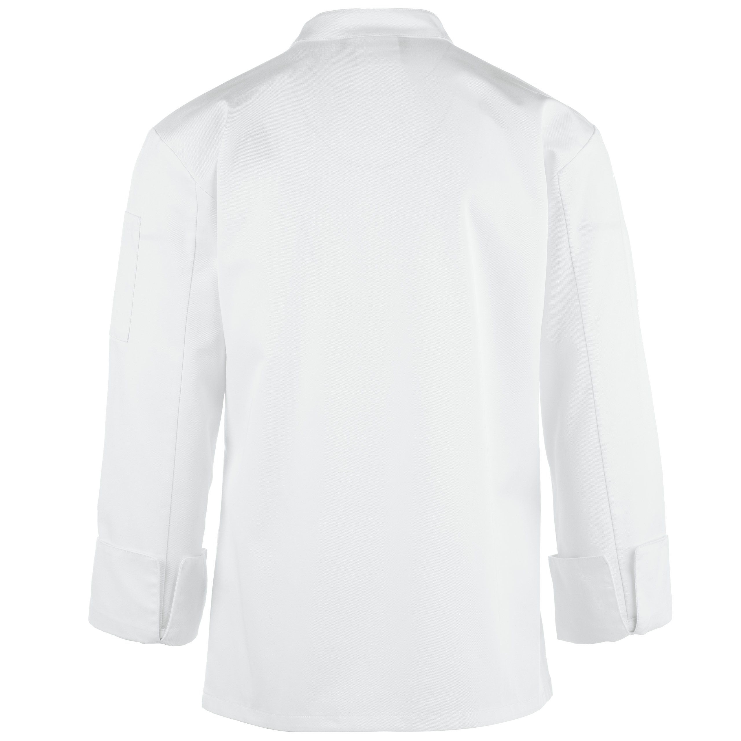Unisex Long Sleeve Chef Coat/Double Breasted/Plastic Button Reversible Front Closure (S-2X, 2 Colors) (White, Medium) by On The Line (Image #4)