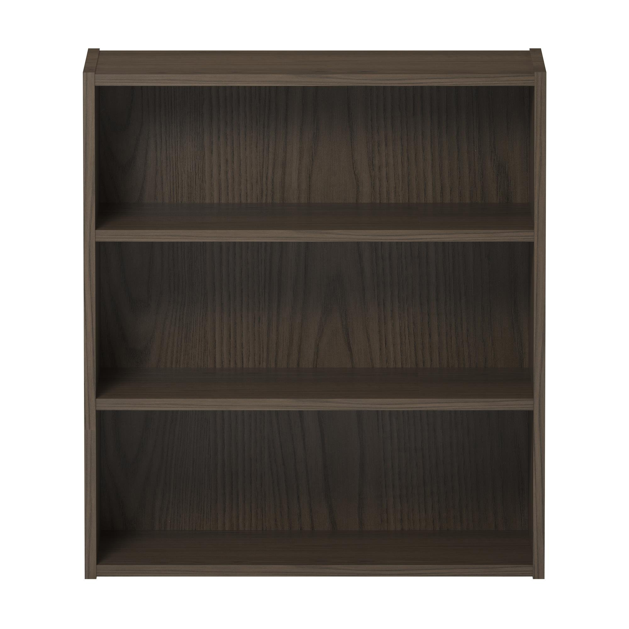 Ameriwood Basics Collection Brown Stanton Ash Tally 3 Shelf Bookcase With Two Customizable Adjustable Shelves, Made From Laminated Particleboard with Brown Stanton Ash Finish