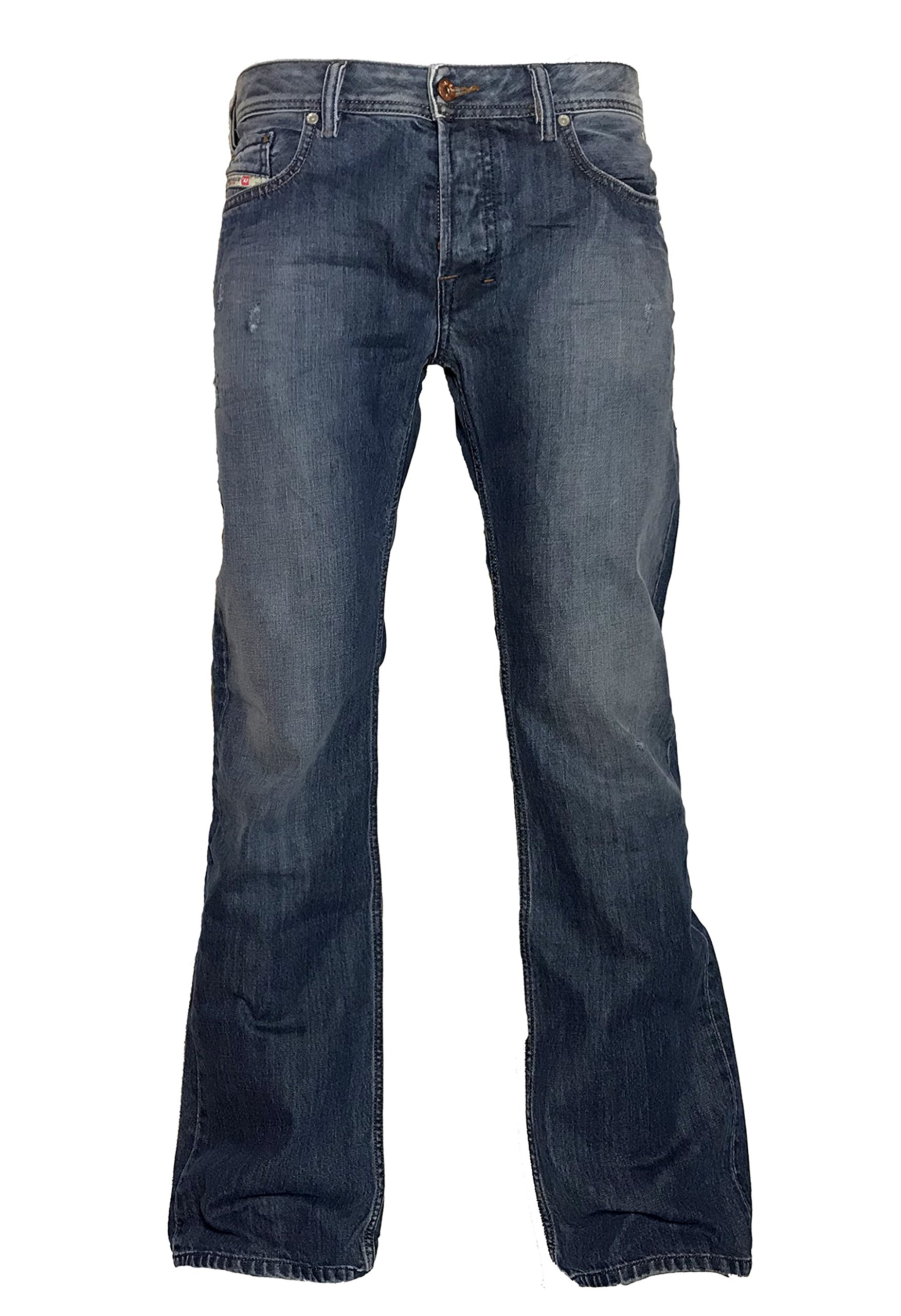 Diesel Mens Boot-Cut Jeans Zatiny 0844U Darkblue used Look (34/32)