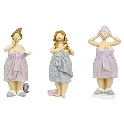 25 cm – juego de 3 figuras – Baigneuses (toallas de baño