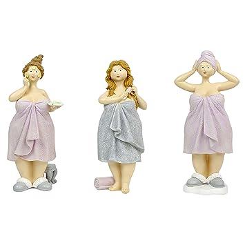 25 cm - juego de 3 figuras - Baigneuses (toallas de baño: Amazon.es: Hogar