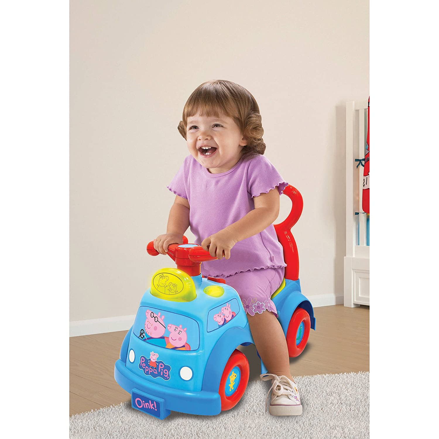 Amazon.com: Peppa Pig luces y sonido musicales Ride-on: Toys ...