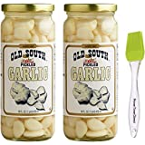 Old South Pickled Garlic 16 fl oz (2 Pack) Bundled with PrimeTime Direct Silicone Basting Brush in a PTD Sealed Bag