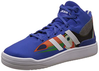 adidas Originals Women s Veritas W White and Blue Basketball Shoes ... e3092ad58