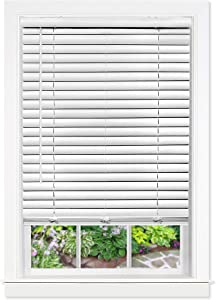 "Achim Home Furnishings, White Cordless GII Luna 2"" Vinyl Venetian Blind, 35"" x 64"""