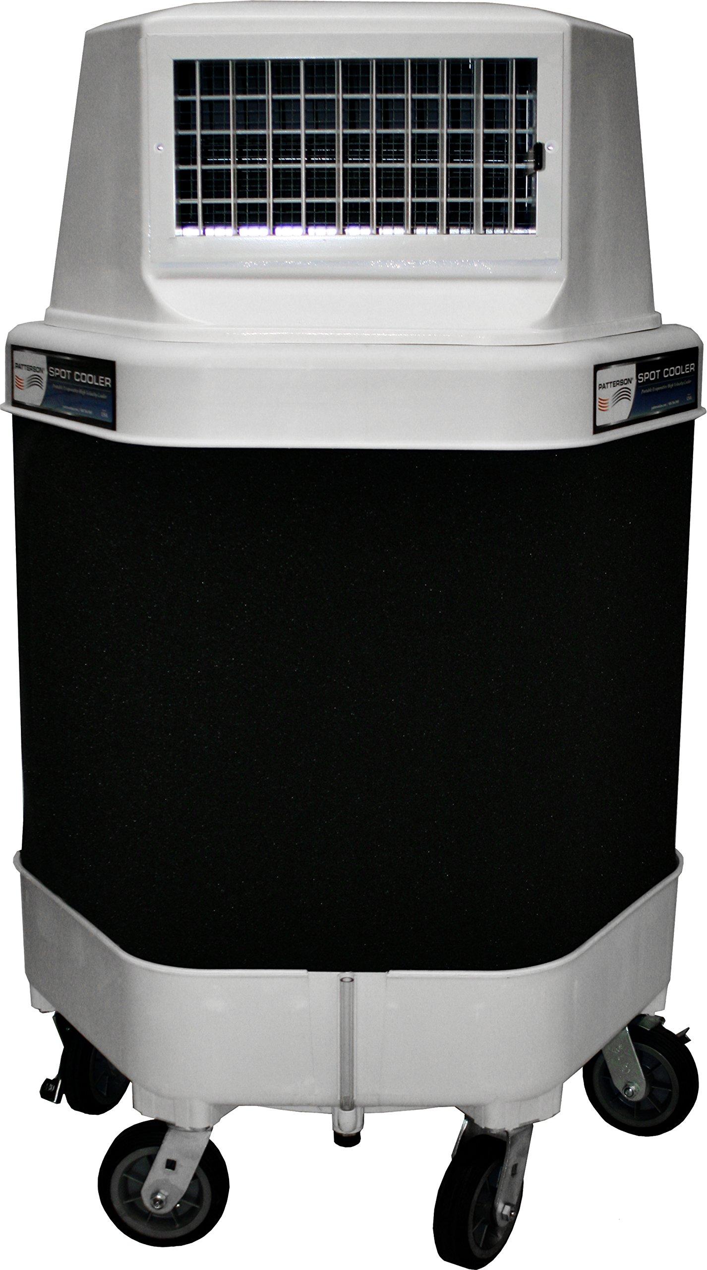 Patterson Fans 90504 Spot Cooler, White with a Black Center Wrap