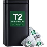 T2 Tea Melbourne Breakfast Black Tea Bags in Tea Caddy, 60-Count