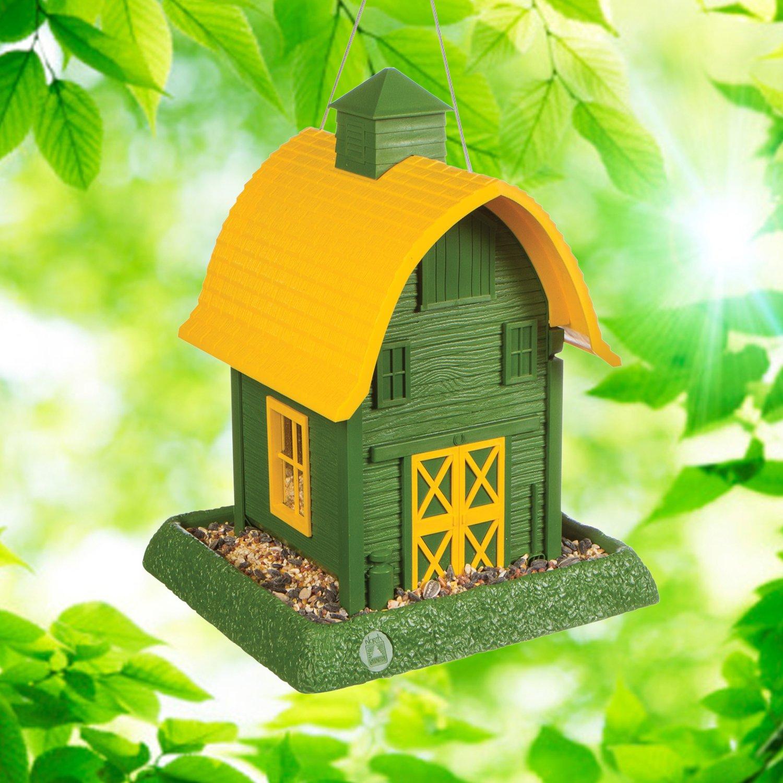 North States Village Collection Around Town-Birdfeeder- Green Barn
