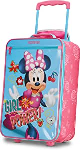 American Tourister 123041-4451 Kids' Disney Softside Upright Luggage, Minnie Mouse 2, Carry-On 18-Inch
