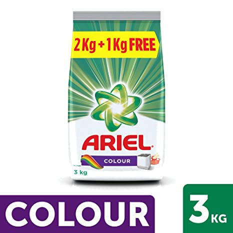 Ariel Colour Detergent Washing Powder - 2 kg with Free Detergent Washing Powder - 1 kg