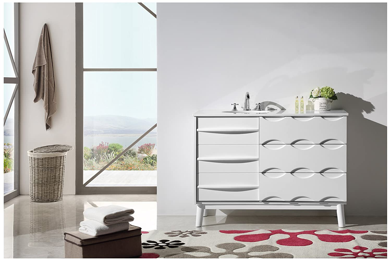 mirror single legion bathroom set with vanity furniture