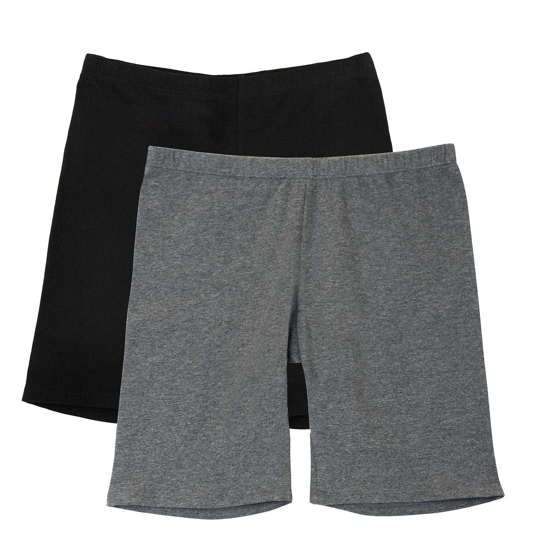 140c36e33 Amazon.com: Fruit of the Loom Girls' Big Cotton Under-Skirt Long Short 2  Pack: Clothing