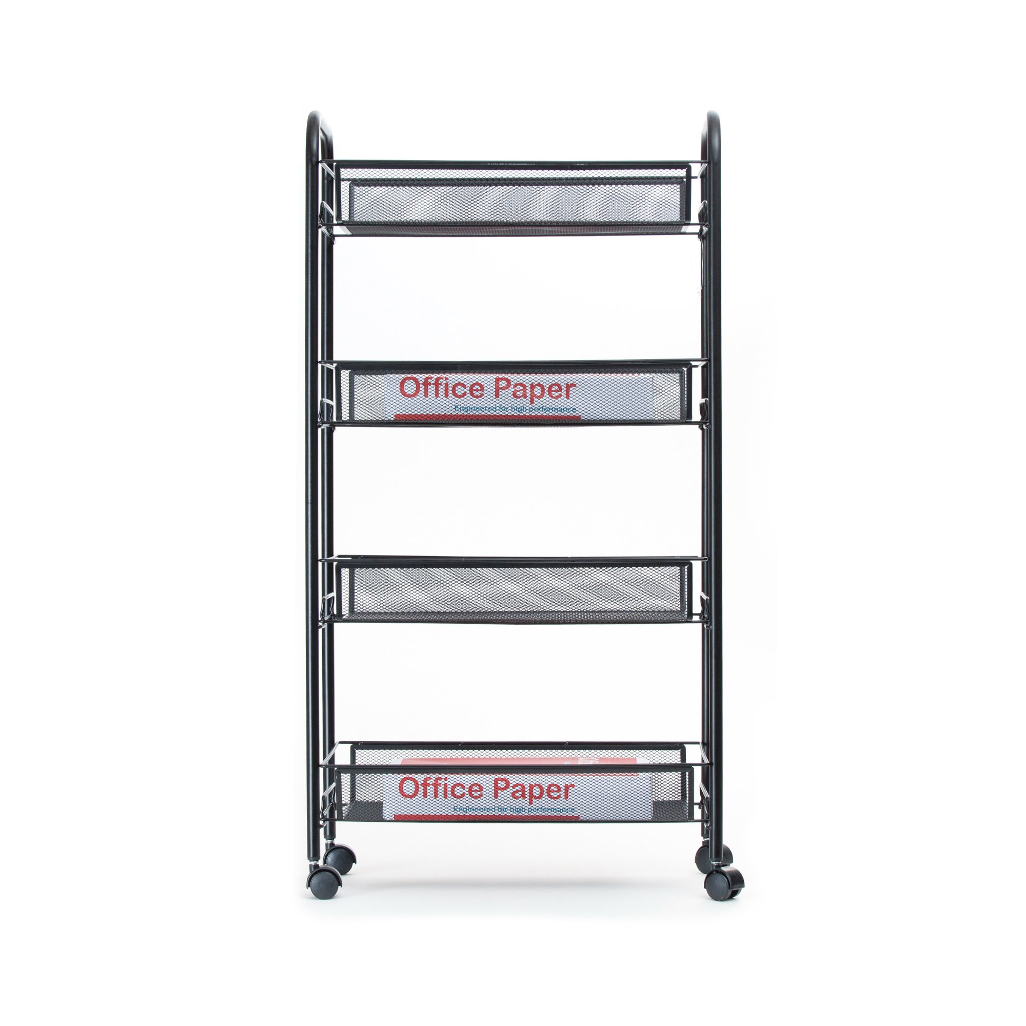 Mind Reader Metal 4 Tier all-Purpose Utility Cart, Black by Mind Reader (Image #6)