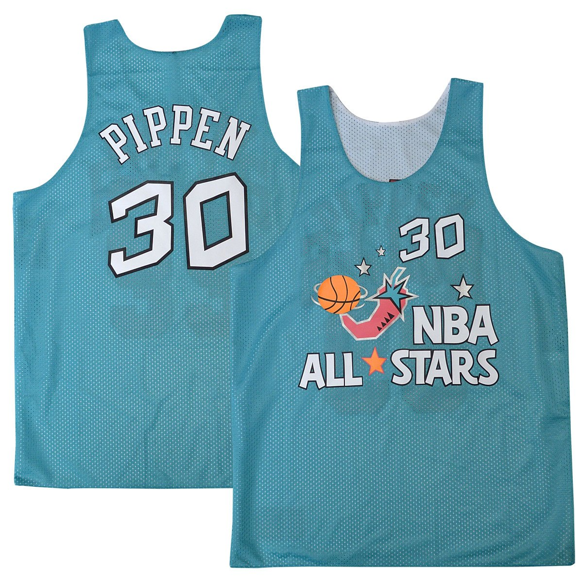 6386ae20343 Amazon.com   Mitchell   Ness Scottie Pippen  33 Chicago Bulls 1996 All Star  Game Reversible Mesh Tank Top (Small)   Sports   Outdoors