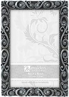 malden designs morgan pewter metal picture frame 4x6 silver