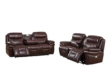 Amazon.com: Coja by Sofa4life Sentinel Leather Sofa and ...