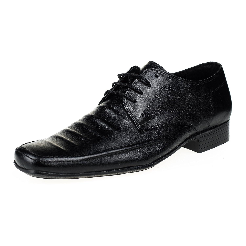 KS® - 111 - Zapatos de Vestir para Hombre - Cuero - Negro