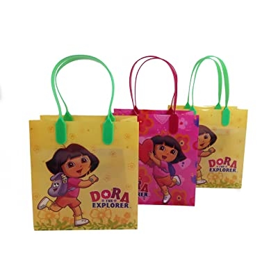 (12ct) Disney Nickelodeon Marvel Birthday Goody Gift Loot Favor Bags Party Supplies (Dora The Explorer): Kitchen & Dining