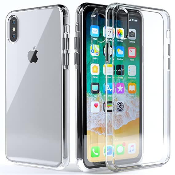 cheap for discount 04bd7 13523 Amazon.com: Clear iPhone X Case :: Fits Apple iPhone X :: Ultra Slim ...