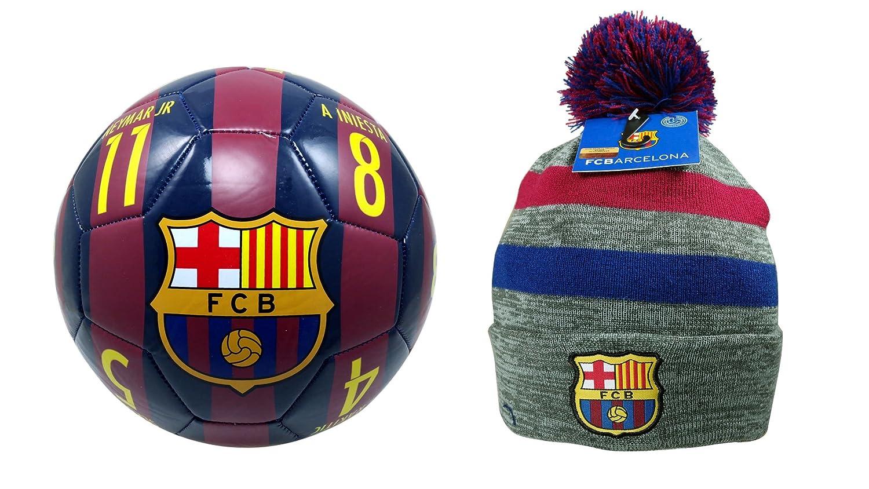 FC バルセロナ 公式ライセンス商品 サッカーサイズ 5ボール&ビーニーコンボ One Size  B0784C9264
