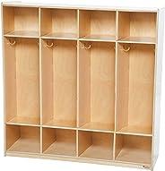 Wood Designs 4 Section Locker