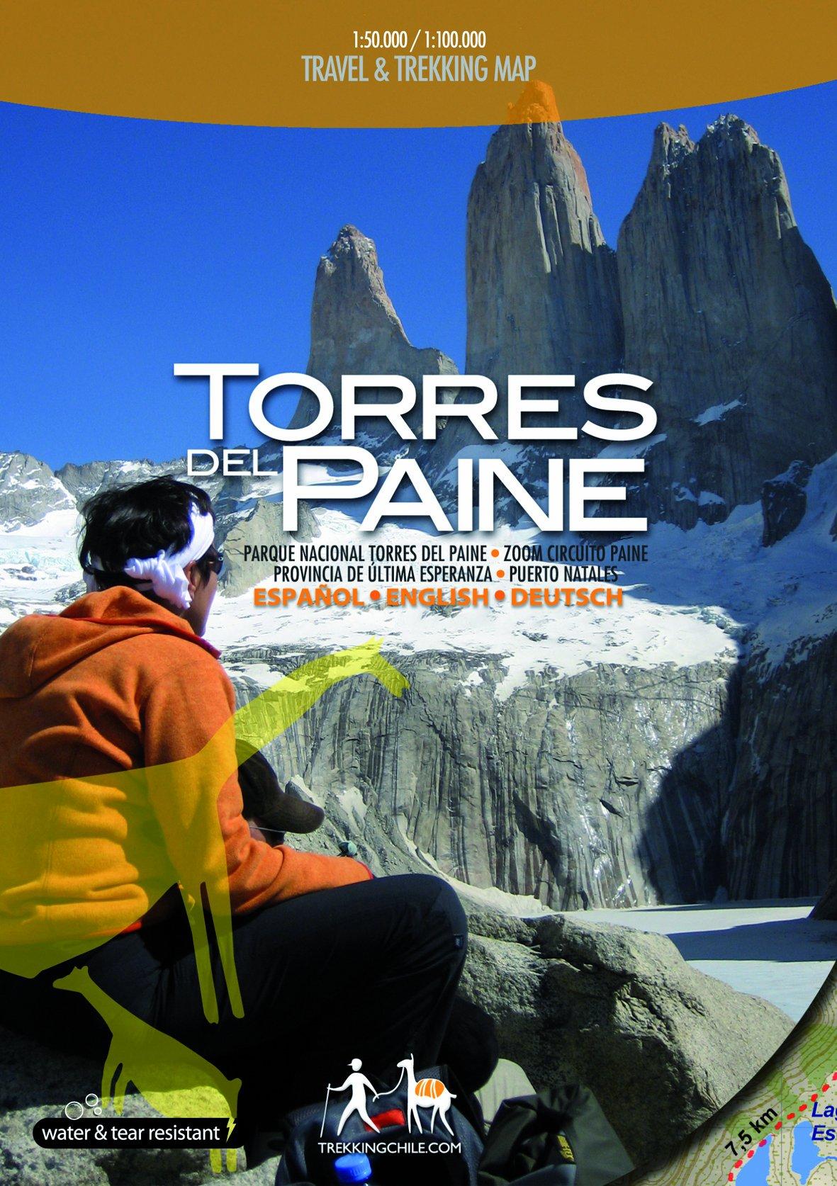 Chile Patagonien Karte.Torres Del Paine Reise Und Wanderkarte Patagonien