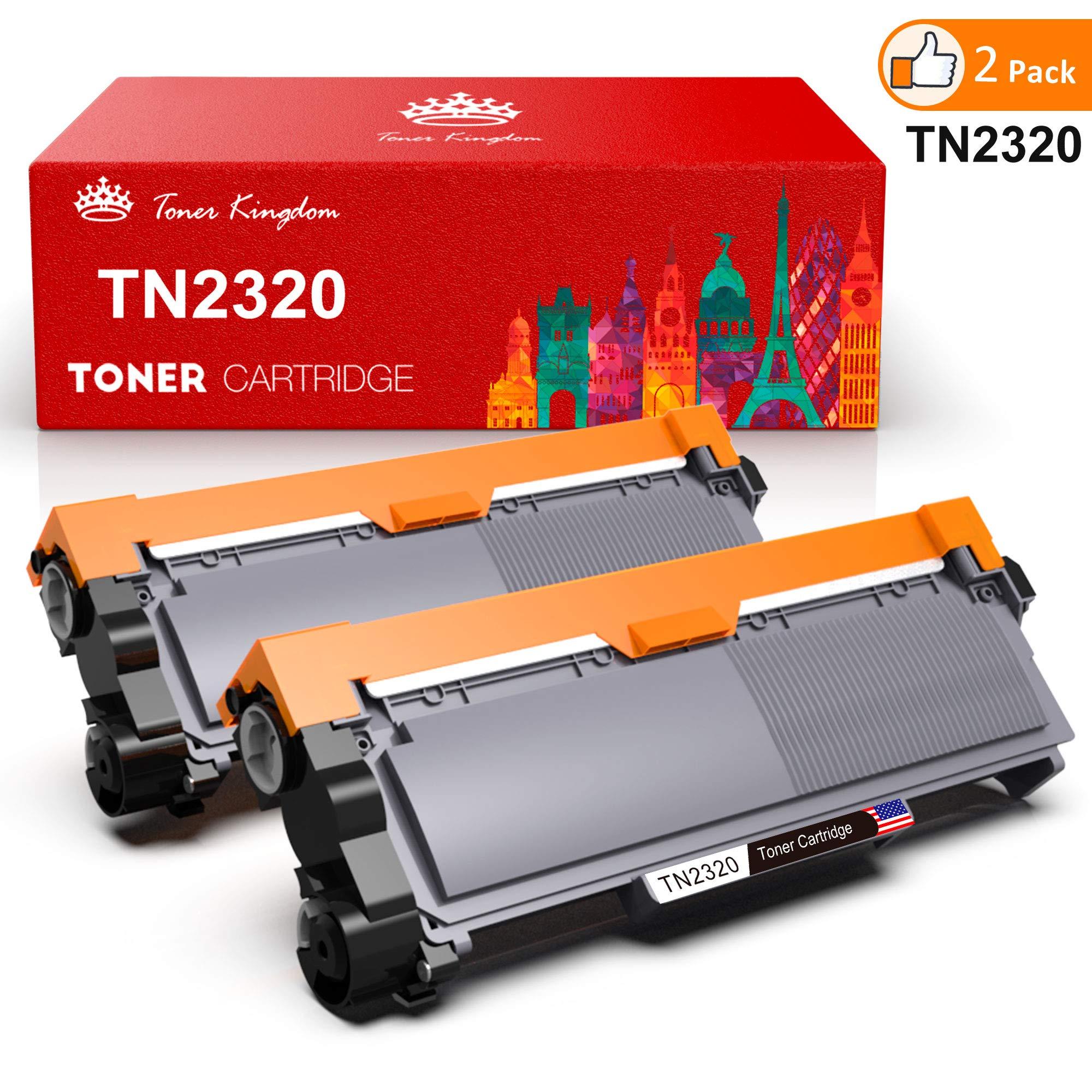 Toner Kingdom 2 Pack cartucho de tóner Compatible Brother TN2320 para su uso en Brother HL