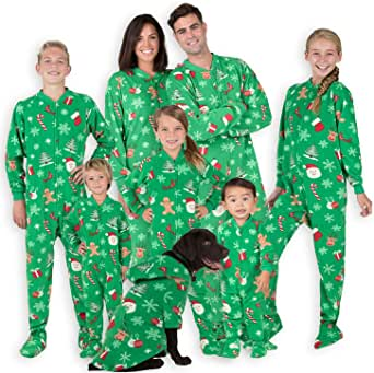 Footed Pajamas - Family Matching Onesies | One Piece Boys, Girls, Men, Women Pjs and Pets Sweaters | Unisex